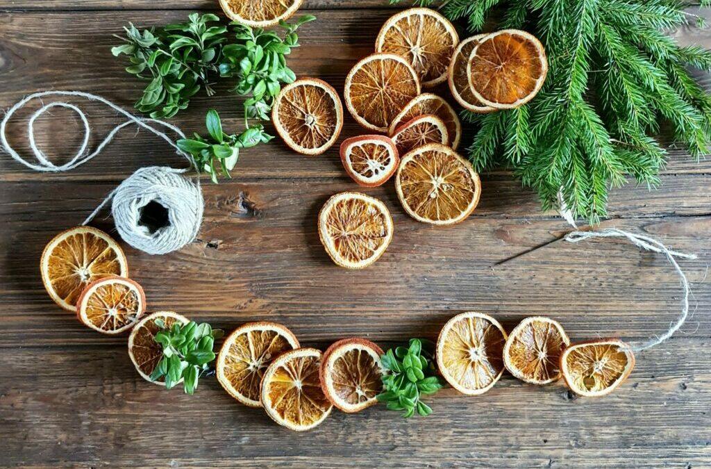 Torkade apelsinskivor skapar julstämning