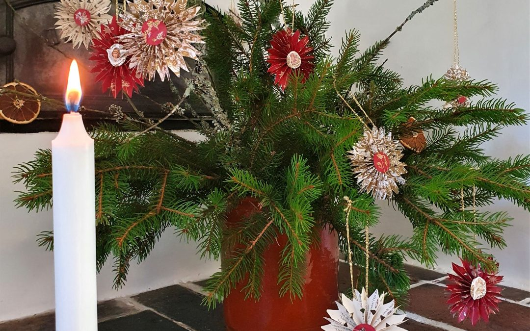 Jultider hos trädgårdsmästaren; webbutiken är pyntad!
